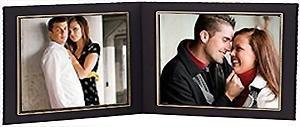 X 8 8 Cardstock - Black Cardstock Paper Double 10x8 landscape photomount folder w/gold foil border sold in 10s - 8x10