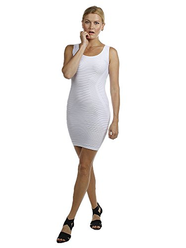 Emmalise Junior Women's Sexy Skin Tight Sleeveless Seamless Fitted Short Mini Dress - Open Back (Skin Tight Dresses For Juniors)