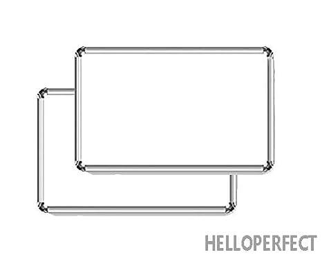 Pack de 2 pizarras de doble cara no magnéticas (blanco y ...