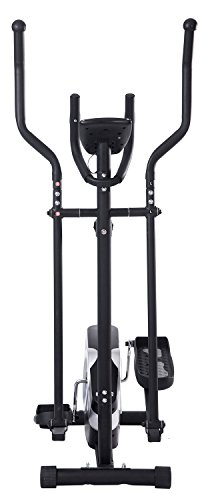 Magnetic Elliptical Trainer with LCD Monitor and Pulse Rate 8.8lb Flywheel