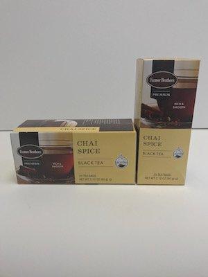 - Farmer Brothers Premium: Chai Spice Hot Tea - 2 boxes/50 tea bags