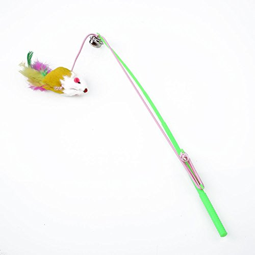 (Niceou Trick Cat Stick Wand Toy Feather Dangler Teaser For Fun Exercise Training)
