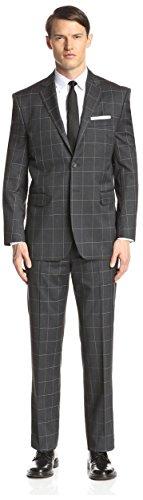 Yves Saint Laurent Men's Plaid Suit, Black, - Laurent Yves Saint Clothes