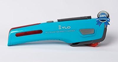 EYLO Survival Tool - Emergency Hand Crank LED Flashlight - Seat Belt Cutter - Window Breaker Hammer - Car Escape Tool - Emergency Flashers - Home Survival Kit