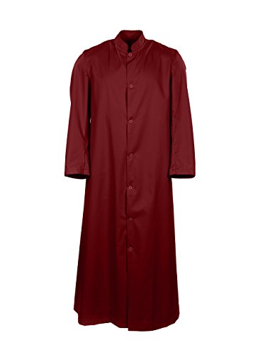 Traditional British Servers Cassock - Church & Choir - Adult and Child Sizes (Burgundy, 36