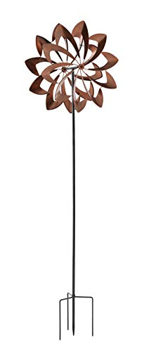 Large Copper Wind Spinner - Chalily Garden Wind Spinner Kinetic Sculptures | Copper Bloom | Copper Finish