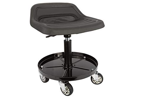 Sunex 8514 300-Pound Capacity Telescoping Tractor Seat with Parts Tray and 3.5-Inch Heavy Duty Casters