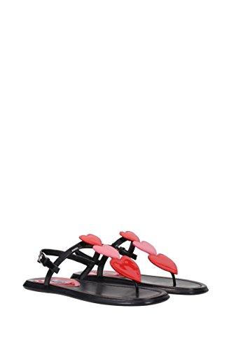 Black Flops Prada UK Women 1Y343H Patent Flip Leather 4ggZaF