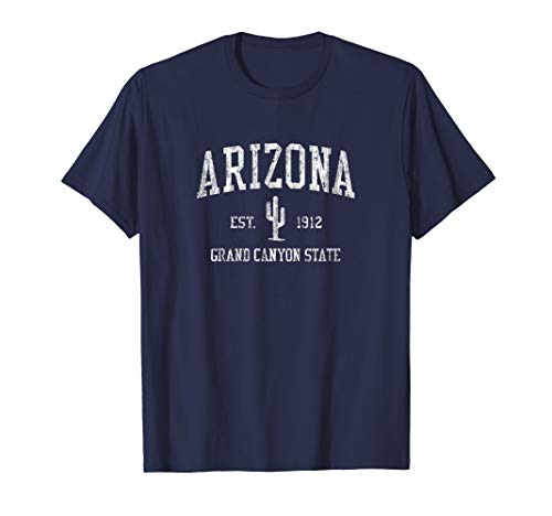 Arizona T-Shirt Vintage Saguaro Cactus Sports Design - Arizona T-shirt Womens