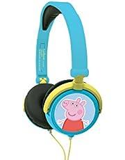 Lexibook Peppa Pig Georges Stereo Hoofdtelefoon, kinderen veilig, opvouwbaar en verstelbaar, Blauw/Groen, HP015PP