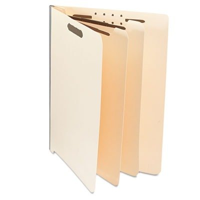 Universal 16150 Manila End Tab Folders with Full Cut, Letter, Six-Section, 10/Box