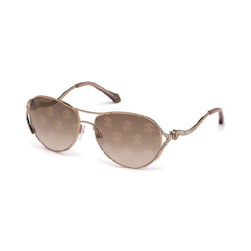 Roberto Cavalli Men's Designer Sunglasses, Shiny Light Bronze/Gradient Brown, ()