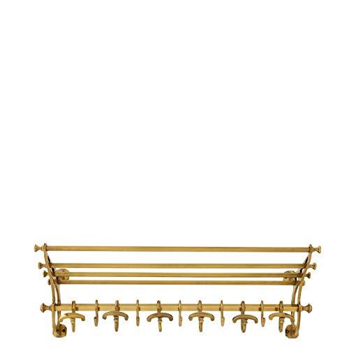 Wall Mounted Brass Coat Rack (S)   EICHHOLTZ Hudson   Gold Hanging Rail Hooks   Modern Luxury entryway Decor (Train Rack Luggage)