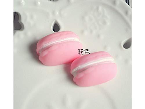 FenBuGu-JP 2本ミニ樹脂マカロンマイクロランドスケープDIY装飾工芸品(ピンク) (色 : Pink)の商品画像