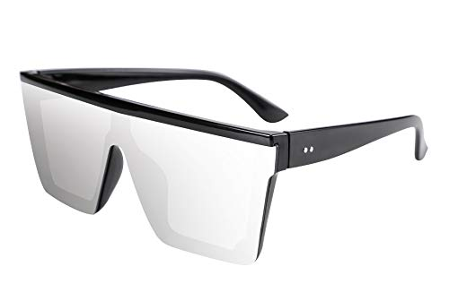 FEISEDY Fashion Oversize Siamese Lens Sunglasses Women Men Succinct Style UV400 B2470