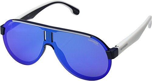Carrera Unisex Carrera 1008/S Matte Blue With Red Mirror Lens One - Protection Uv Carrera