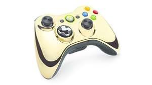 Microsoft - Mando Inalámbrico, Color Dorado Cromado (Xbox 360)