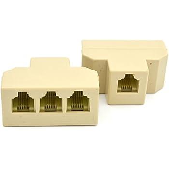 rj11 phone line splitter separator adaptor for. Black Bedroom Furniture Sets. Home Design Ideas