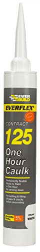 Everbuild 125C4 380ml One Hour Caulk - White