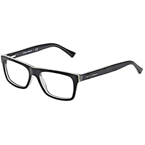 Dolce&Gabbana URBAN DG3205 Eyeglass Frames 1871-47 - Top Black On Grey DG3205-1871-47