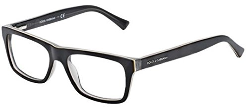 Dolce&Gabbana URBAN DG3205 Eyeglass Frames 1871-47 - Top Black On Grey - Glasses Dolce