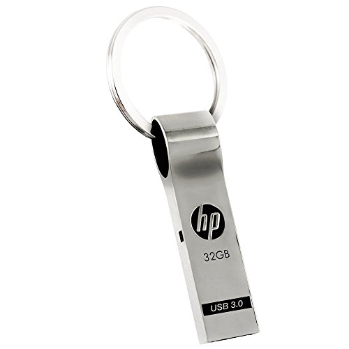 HP 32GB USB 3.0 Metal Key Ring Design Flash Drive (Gb 32 Hp Usb)
