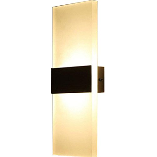 T-ZBDZ Up and Down Light Modern Fashion Bedroom Aisle Living Room Bedside lamp Mirror Headlights wash Wall Lamps, 146cm Rounded Corners ()