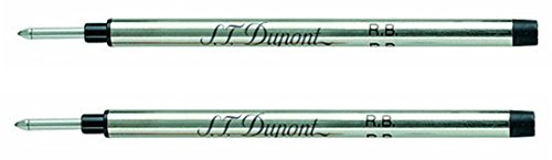 st-dupont-medium-rollerball-refill-black-pack-of-2
