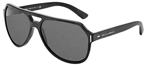 Dolce & Gabbana DG4224 Sunglass-282087 Brushed Black (Gray - And Dolce Lenses Gabbana