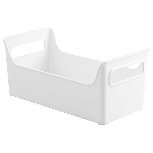 InterDesign Refrigerator and Freezer Storage Organizer Condiment Bin for Cookhouse, White