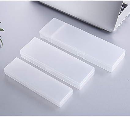 Estuche Para Lápices Transparente Mediano Y Estuche Para Lápices De Plástico Para Estudiantes Creativos Largos 19.5 * 6.5 * 2.5Cm: Amazon.es: Oficina y papelería