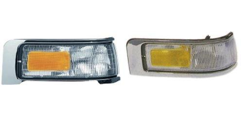 Go-Parts PAIR/SET OE Replacement for 1995-1997 Lincoln Town Car Corner Lights Assemblies/Lens Cover - Left & Right (Driver & Passenger) For Lincoln Town Car ()