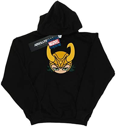 Marvel Damen Loki Close Up Kapuzenpullover Schwarz X-Large