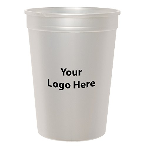 Personalized Custom Stadium Cups - Smooth Finish - 50 Quantity - $1.05 Each - Bulk Promotional Product Branded with Your Logo / Customized. 12-ounce - Promotional Drinkware Products