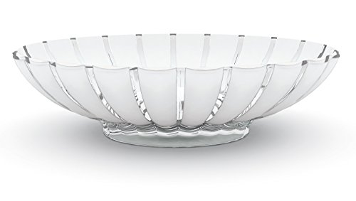 Guzzini Grace Centerpiece Fruit Bowl, 14-3/4-Inches by 12-Inches, Transparent