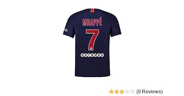 sneakers for cheap 1fa5e 1be85 2018-2019 Paris St Germain PSG #7 MBAPPE Home Mens Soccer Jersey Color Blue