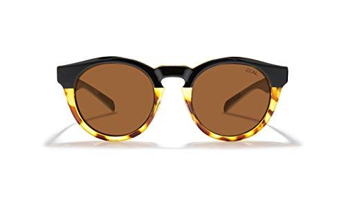 Zeal Optics Unisex Crowley Black Tortoise/Polarized Copper Lens One - Sunglasses Zeal