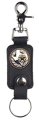 Custom Texas Rope and Star Mascorro Leather Valet Key Fob