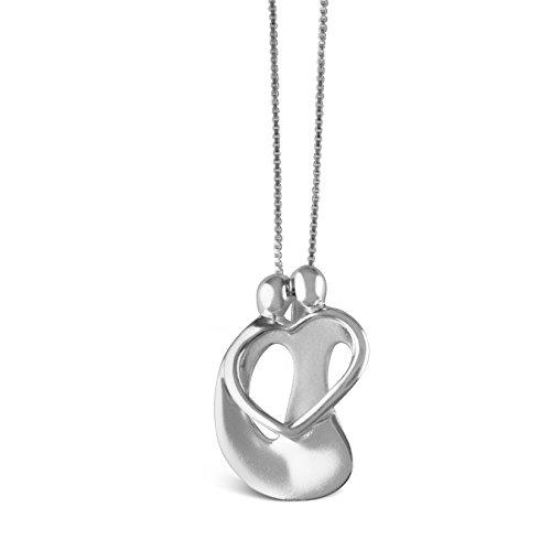 Sterling Silver Family Loving Pendant (925 Sterling Silver Loving Family Couple Pendant Necklace)