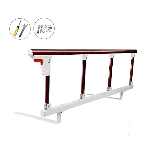 Bed Rail Safety Guard for Toddler, Elderly,Seniors, Adults, Kids Folding Bed Assist Handle Hospital Railing Bumper Bar (Light Dark ()