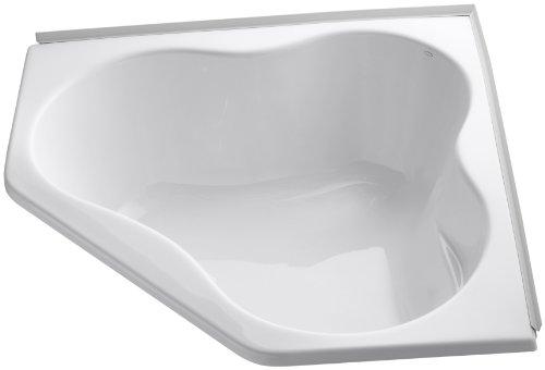 Acrylic Kohler Bathtub Corner (KOHLER K-1155-F-0 5454 Corner Bath with Flange, White)