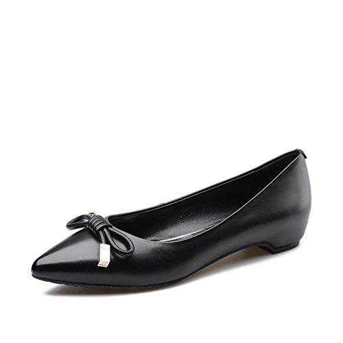 en profundidad zapatos casuales A acentuado coreana poca de de Versión los más Señora zapatos primavera bajo P4qE6