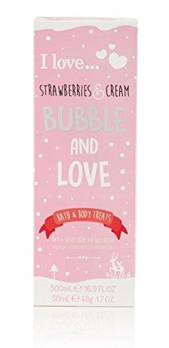 Strawberry Bubble Bath - I Love… Strawberries & Cream Bubble and Love Bath and Body Treat Gift Set