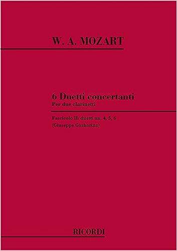 Livre 6 Duetti Concertanti Per 2 Clarinetti pdf, epub ebook