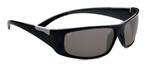 Serengeti Sport Fasano Sunglasses, Polar PhD CPG, Shiny Black - Serengeti Phd Sport Polar Sunglasses