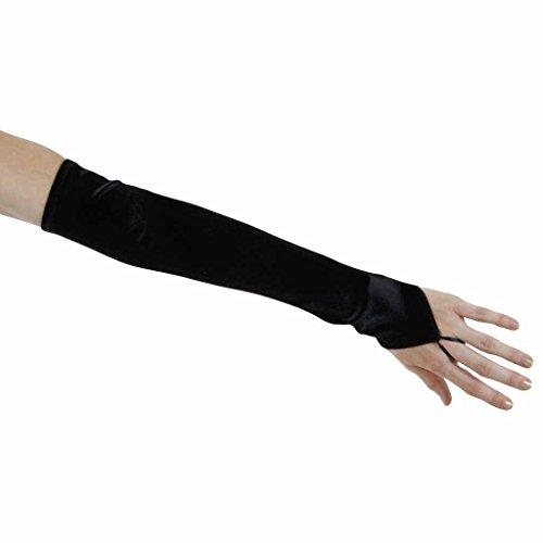 Soft Serenade Elbow Length Fingerless Gloves, Black ()