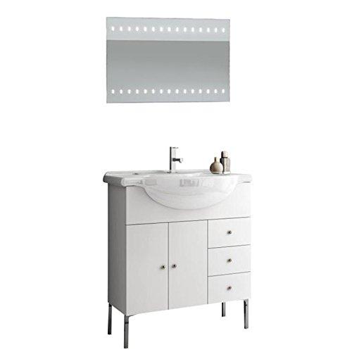 ACF LON08-637509939557 London Collection Vanity Set, Glossy White