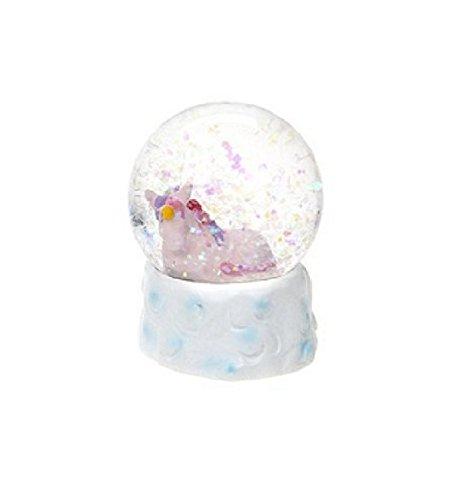 45mm Unicorn Snow Globe Decoration - PINK - Gigi Queen Adventures in Unicorn (Unicorn Snowglobe)