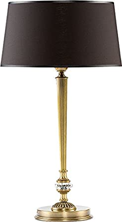 Lámpara de mesa elegancia con cristales de swarovski ...