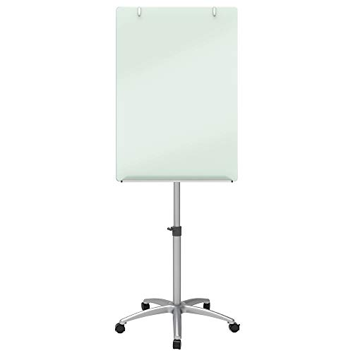 Quartet Easel, Magnetic, Glass Whiteboard, 3' x 2', Adjustable, Portable, Flip Chart Holder, Infinity - Glass Easel